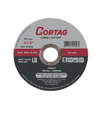 "CORTAG IRON CUTTING DISC 115 mm - 4.1 / 2"" x 1/8"" x 7/8"""