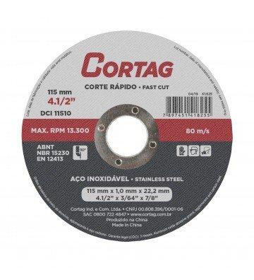 DISCO DE CORTE INOX 115 mm - 1,0 mm x 22,22 mm