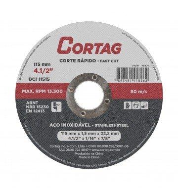 DISCO DE CORTE INOX 115 mm - 1,561826 mm x 22,22 mm