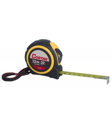 STEEL METER 7.5 mx 25 mm ABS / RUBBER