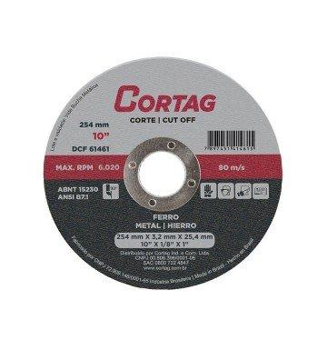 DISCO DE CORTE FERRO 254 mm X 25,5 MM