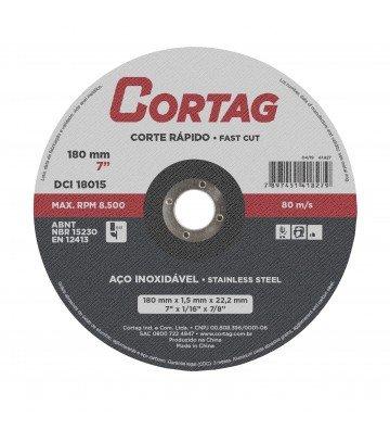 DISCO DE CORTE INOX 178 mm x 1,6 mm x 22,22 mm