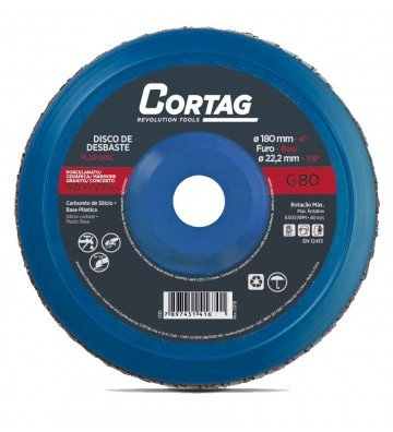 7'' FLAP Roughing Disc - 180 mm CS- BP G80
