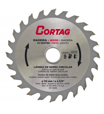 CIRCULAR SAW BLADE FOR WOOD 24 TEETH Ø 110 mm