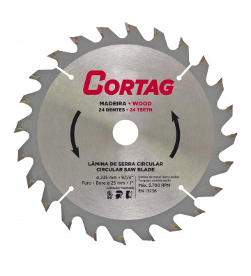 CIRCULAR SAW BLADE FOR WOOD 24 TEETH Ø 235 mm