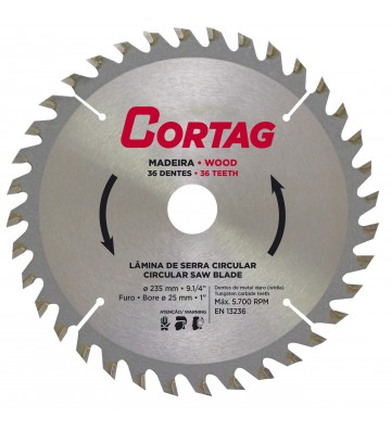 CIRCULAR SAW BLADE FOR WOOD 36 TEETH Ø 235 mm