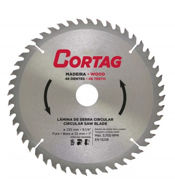 CIRCULAR SAW BLADE FOR WOOD 48 TEETH Ø 235 mm