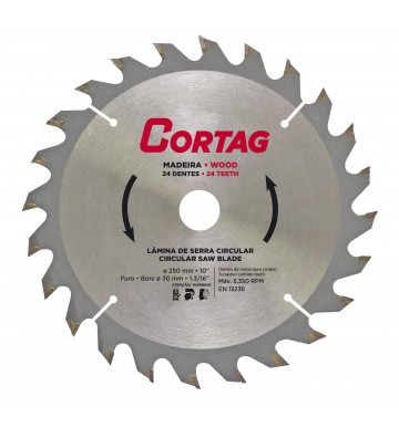 CIRCULAR SAW BLADE FOR WOOD 24 TEETH Ø 250 mm