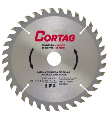 CIRCULAR SAW BLADE FOR WOOD 36 TEETH Ø 250 mm