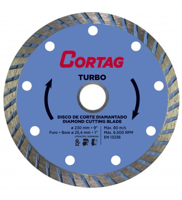 TURBO DIAMOND DISC Ø230 / HOLE Ø25,4 / REDUCTION Ø22,2