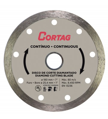 CONTINUOUS DIAMOND DISC Ø 180 / HOLE Ø 25.4 REDUCTION Ø 22.22