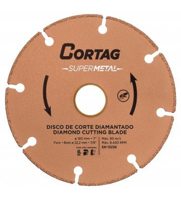 DISCO DE CORTE DIAMANTADO SUPER METAL 180 MM