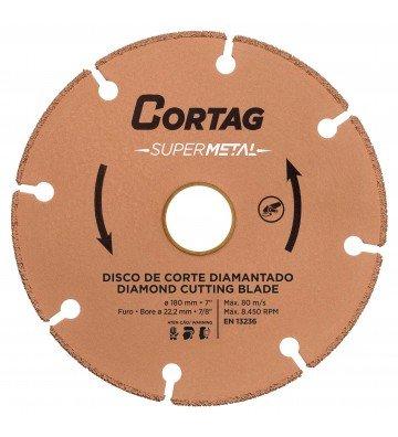 DISCO DE CORTE DIAMANTADO SUPER METAL 180 MM