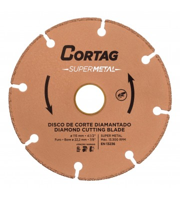 DISCO DE CORTE DIAMANTADO SUPER METAL 115 MM