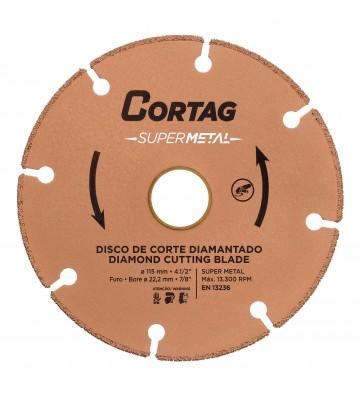 DISCO DE CORTE DIAMANTADO SUPER METAL 115 MM