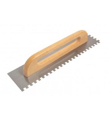 DESEMPENADEIRA AÇO 10 x 10 mm - 48 cm CABO MADEIRA