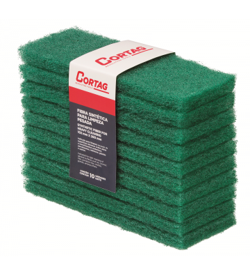GREEN SYNTHETIC FIBER 102 mm x 260 mm - HEAVY CLEANING